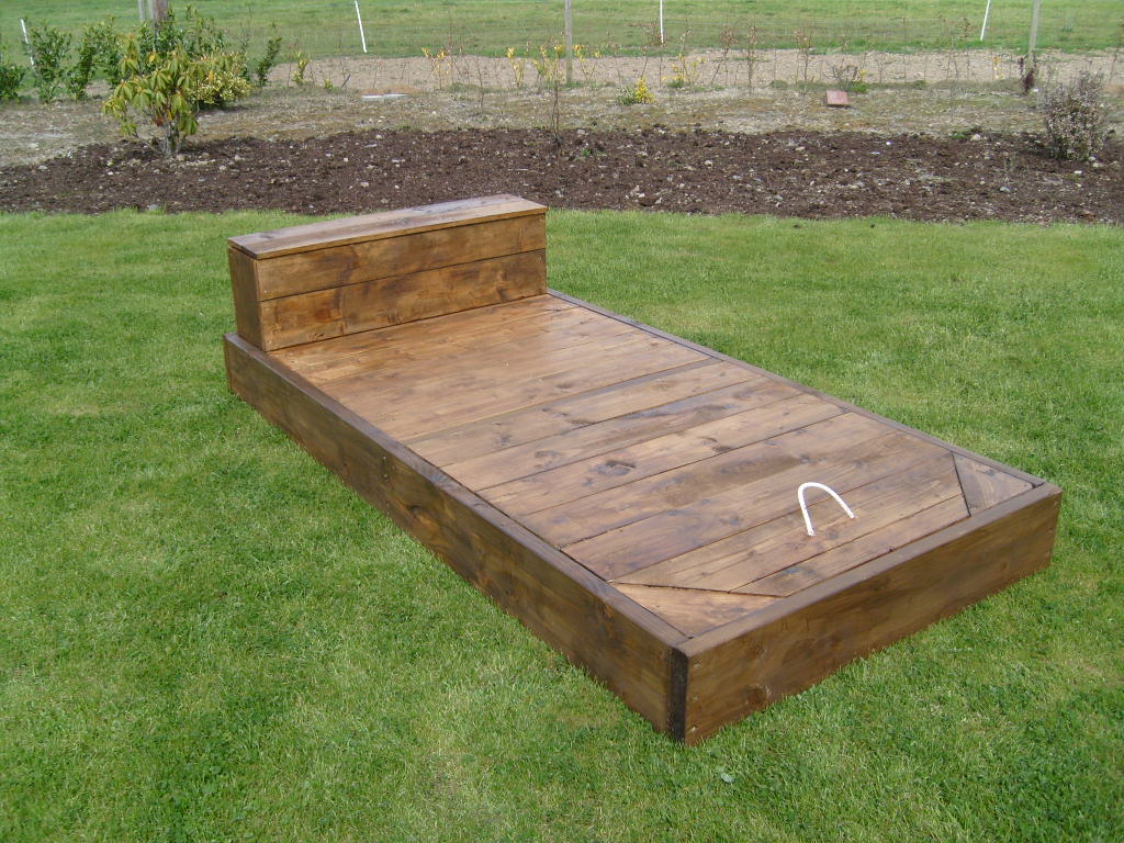 Wooden Sandpit Ballpit With Decking Lid And Storage